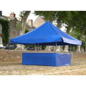 STAND BUVETTE 4,50m x 4,50m                             Armature + Toiture + Comptoir +Jupe