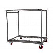 chariot table ronde  plume Ø80 vide